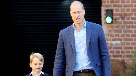 Prinz William mit seinem ältesten Sohn George (hub/spot)