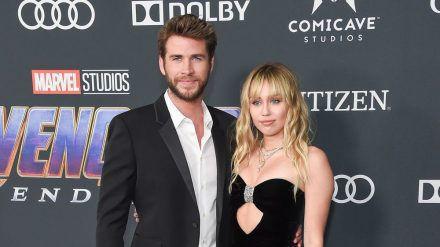 Miley Cyrus und ihr Ex-Mann Liam Hemsworth bei einer Veranstaltung im April 2019. (jru/spot)