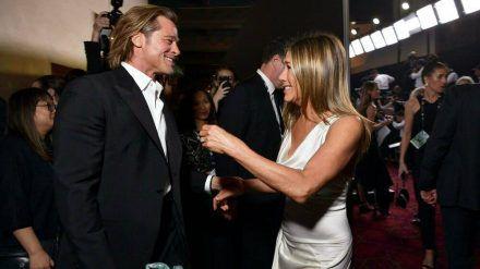 Brad Pitt und Jennifer Aniston trafen bereits im Januar bei den Screen Actors Guild Awards in Los Angeles aufeinander. (hub/spot)
