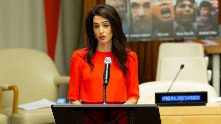 Amal Clooney gibt ihren Posten als Sonderbeauftragte der britischen Regierung auf. (cos/spot)