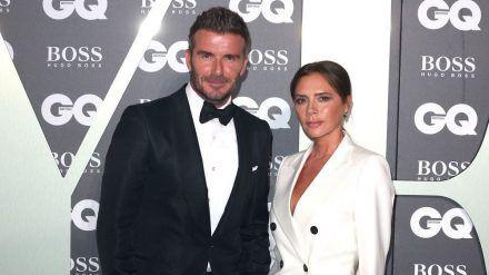 David Beckham und Ehefrau Victoria Beckham bei einer Veranstaltung 2019. (jru/spot)