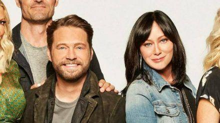 """Sie spielten in der 1990er Erfolgsserie """"Beverly Hills, 90210"""" das Geschwisterpaar Brenda und Brandon Walsh: Shannen Doherty und Jason Priestley. (ili/spot)"""