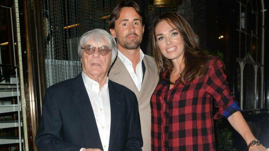 Bernie Ecclestone (li.) mit Tochter Tamara und Jay Rutland. (jom/spot)