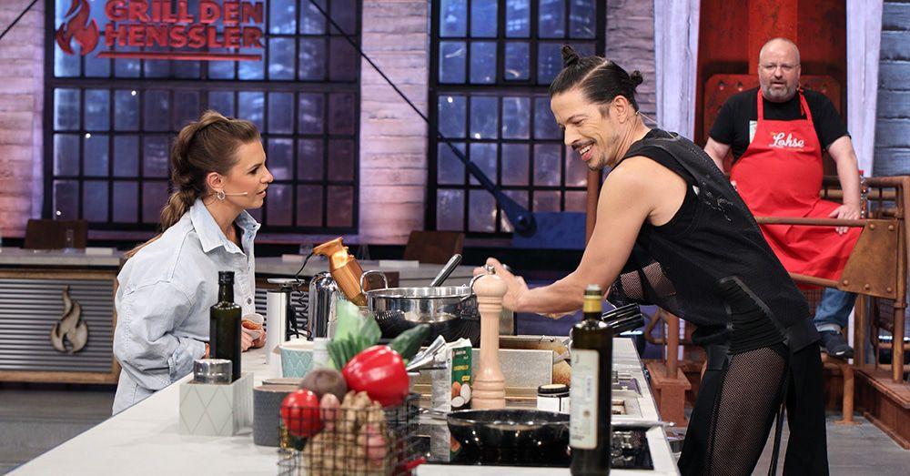 """Sarah Lombardi und Jorge Gonzalez bei """"Grill den Henssler"""""""