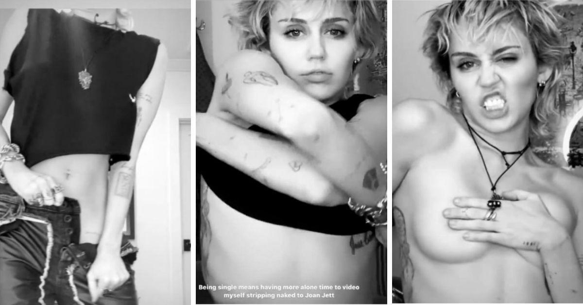 Miley Cyrus macht sich nackig: Heiße Strip-Show auf Instagram