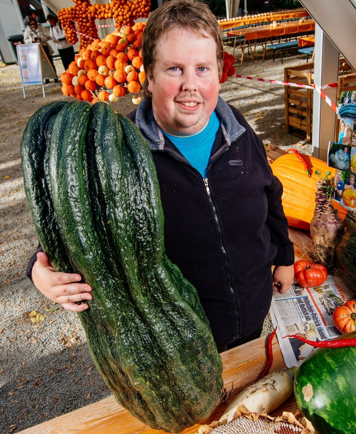 Möhrchen-Patrick: Weltrekord mit Riesengemüse