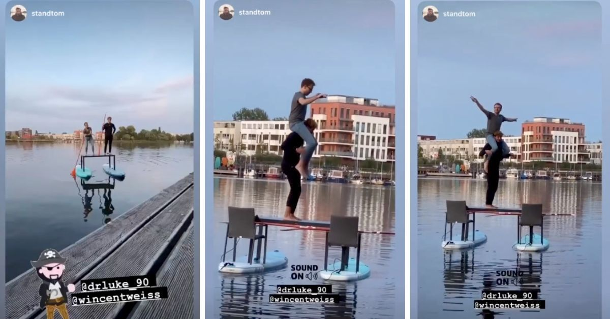 Wincent Weiss mit irrem Stunt: Stand-Up-Paddling für Fortgeschrittene
