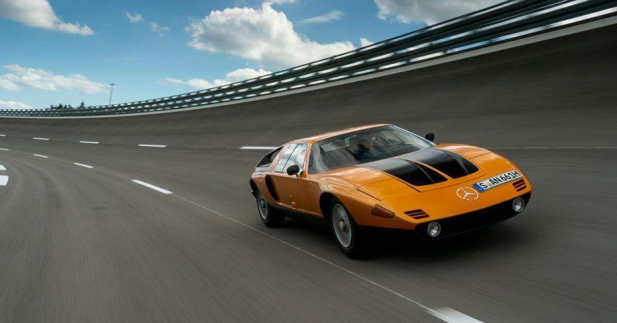 Mit seiner keilförmigen Silhouette musste sich der C111 nicht vor anderen Supersportwagen verstecken.