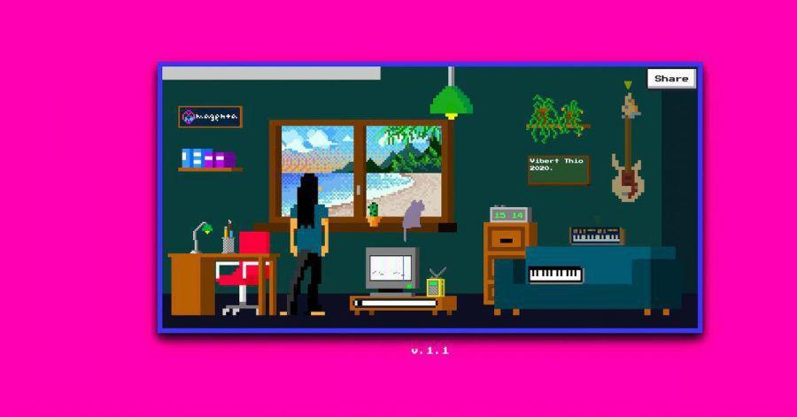 Im Musikzimmer des Lo-Fi-Player kann man sich entspannte Beats ganz einfach selbst zusammenbauen.