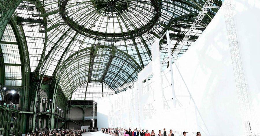 Modenschau von Chanel in Paris.