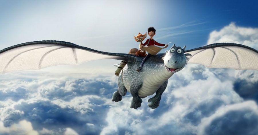 Der Silberdrache Lung, das Koboldmädchen Schwefelfell und der Waisenjunge Ben sind auf der Suche nach dem Saum des Himmels.