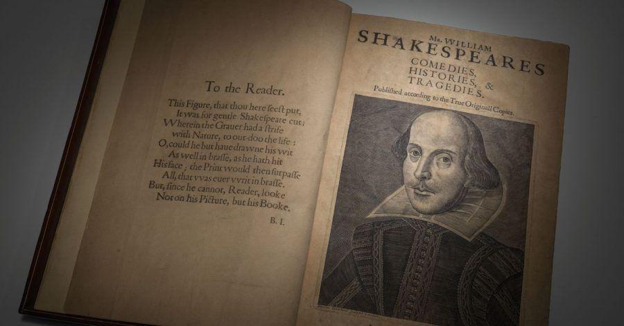 Eine Erstausgabe von William Shakespeares «Comedies, Histories & Tragedies» aus dem Jahr 1623.