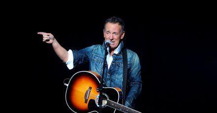 Bruce Springsteen, Rocksänger aus den USA, tritt 2018 beim «Stand Up For Heroes»- Benefizkonzert in New York auf.