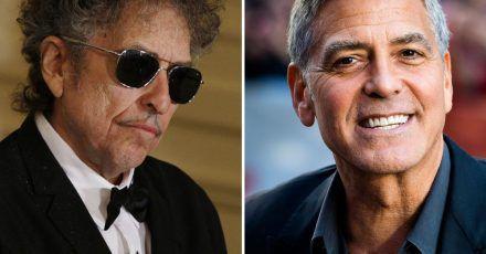 Bob Dylan (l) und George Cloone arbeiten als Produzenten zusammen.