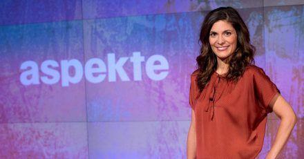 Die Moderatorin Katty Salie im ZDF-Studio.
