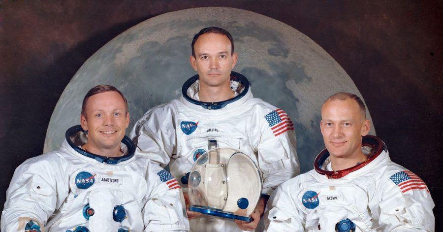 Die Besatzung von Apollo 11: Neil Armstrong (l-r), Michael Collins und Edwin E. «Buzz» Aldrin.