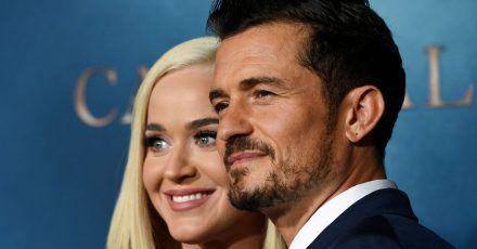 Orlando Bloom har Katy Perry einen Videogruß von Borat zum Geburtstag geschenkt.