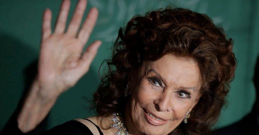 Sophia Loren bei ihrer Ankunft zur Verleihung der «Green Carpet Fashion Awards».