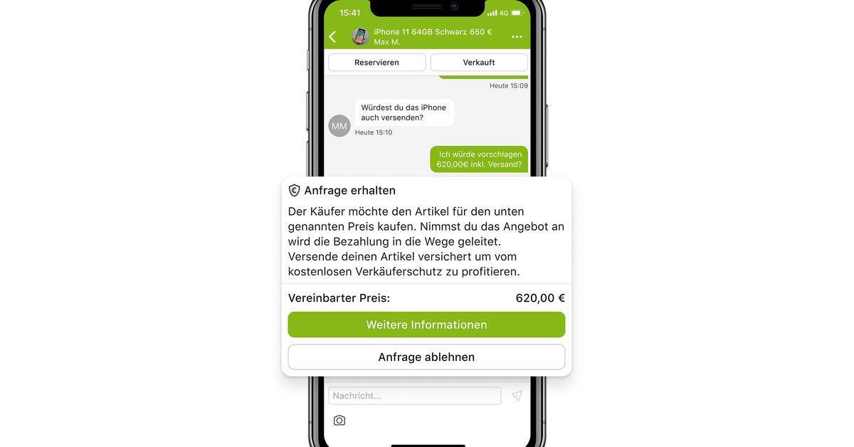Ebay-Kleinanzeigen bietet Treuhänder-Bezahlfunktion