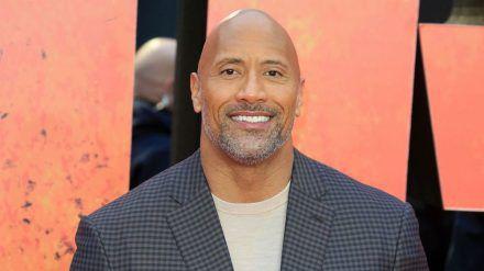 "Dwayne ""The Rock"" Johnson bei einer Filmpremiere in London (elm/spot)"