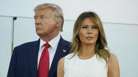 Donald und Melania Trump haben sich in Quarantäne begeben (wue/spot)