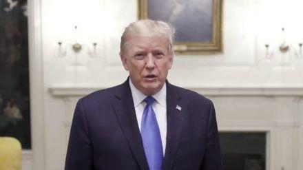 Donald Trump hat sich nach seinem Krankenhausaufenthalt zurückgemeldet (hub/spot)
