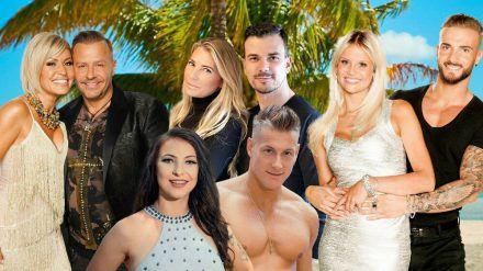 Willi und Jasmin, Giulia und Ludwig (hinten), Roxy und Calvin (vorne), Stephi und Julian (v.l.n.r.) (jom/spot)