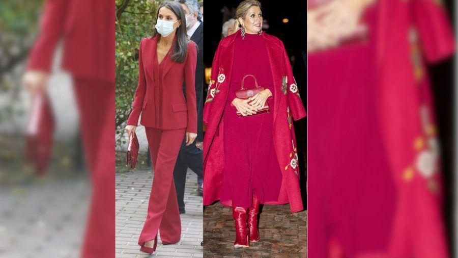 Königin Letizia (li.) und Königin Máxima in ihren roten Looks (jom/spot)