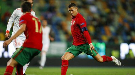Cristiano Ronaldo beim Spiel gegen Spanien (wue/spot)