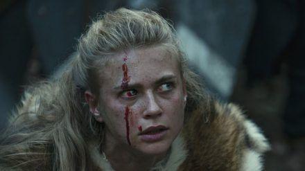 Jeanne Goursaud in ihrer Rolle der germanischen Kriegerin Thusnelda (stk/spot)