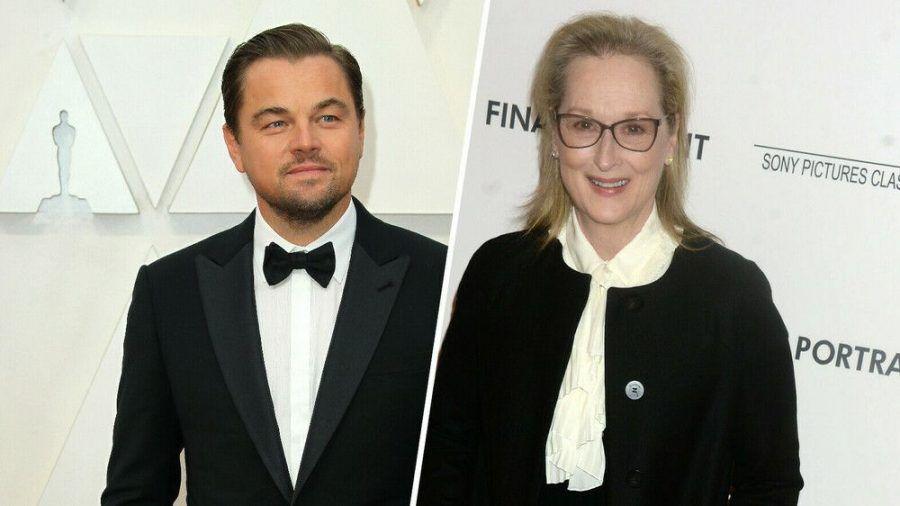 """Haben beide bei der Netflix-Komödie """"Don't Look Up"""" angeheuert: Leonardo DiCaprio und Meryl Streep. (stk/spot)"""