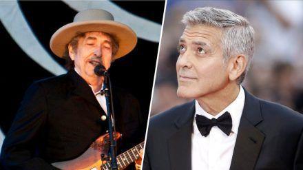 Bob Dylan (l.) und George Clooney werden demnächst Co-Produzenten. (wag/spot)