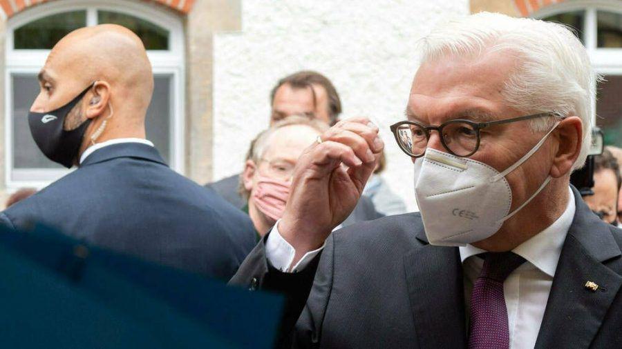 Frank-Walter Steinmeier auf einem Termin vor wenigen Tagen (wue/spot)