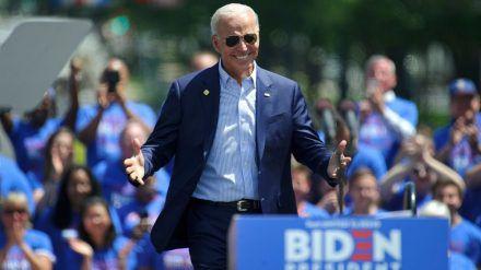 Joe Biden kann sich über reichlich prominenten Rückenwind freuen. (wag/spot)