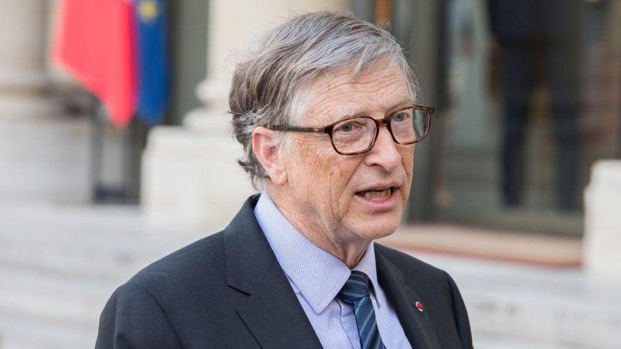 Bill Gates in Frankreich - vor der Corona-Pandemie (wue/spot)