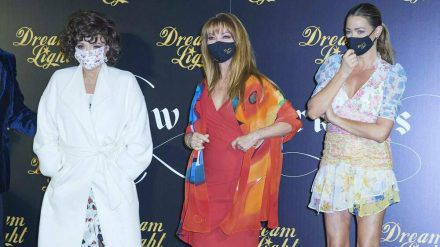 Joan Collins, Jane Seymour und Denise Richards (v.l.) auf dem roten Teppich in Madrid (ili/spot)