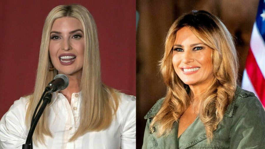 Sie greifen in den US-Wahlkampf ein: Ivanka Trump (l.) in unschuldigem Weiß, Melania Trump in kämpferischem Oliv (ili/spot)