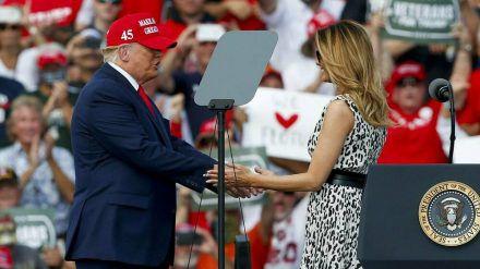 Donald und Melania Trump wollen vier weitere Jahre im Weißen Haus residieren. (ln/spot)