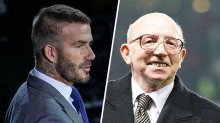 Die Wege von David Beckham (l.) und Nobby Stiles kreuzten sich bei Manchester United. (cos/spot)