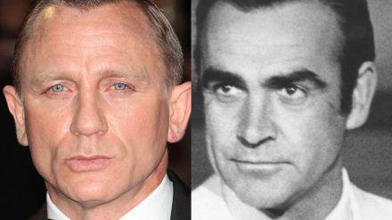 Daniel Craig (li.) hat sich von Sean Connery mit rührenden Worten verabschiedet. (jom/spot)
