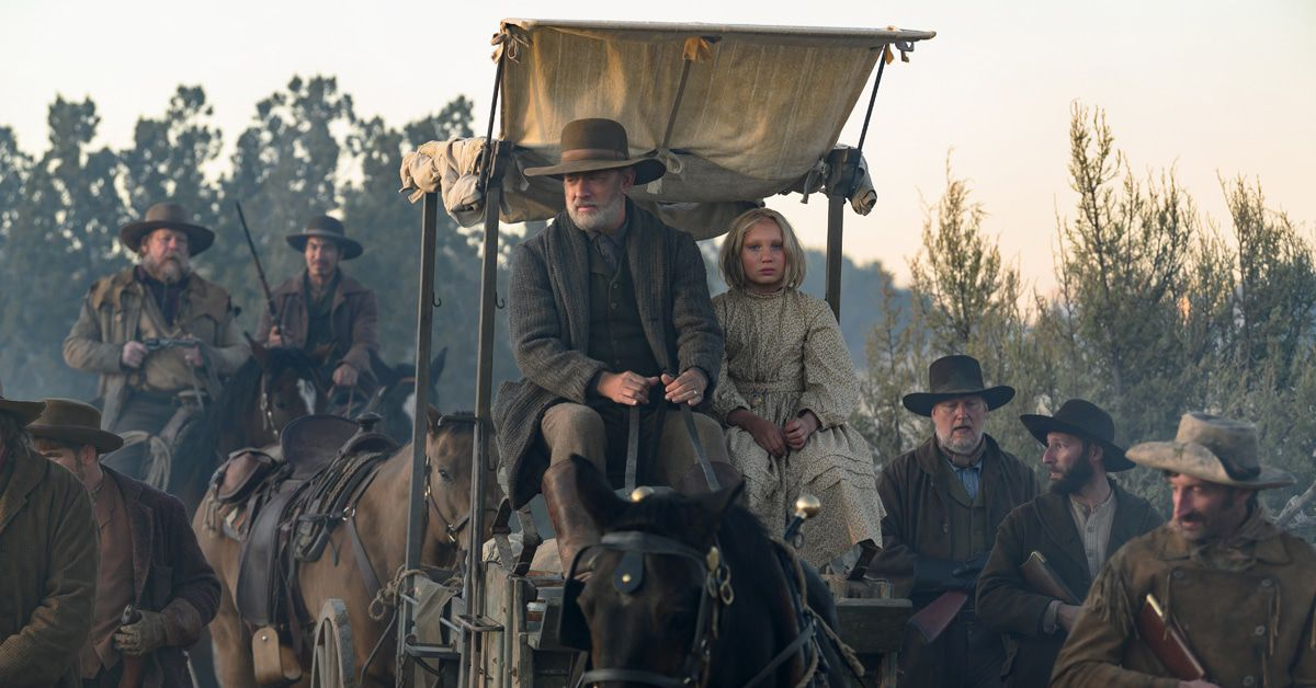 """Tom Hanks und die Berlinerin Helena Zengel (12) im Western """"Neues aus der Welt"""""""