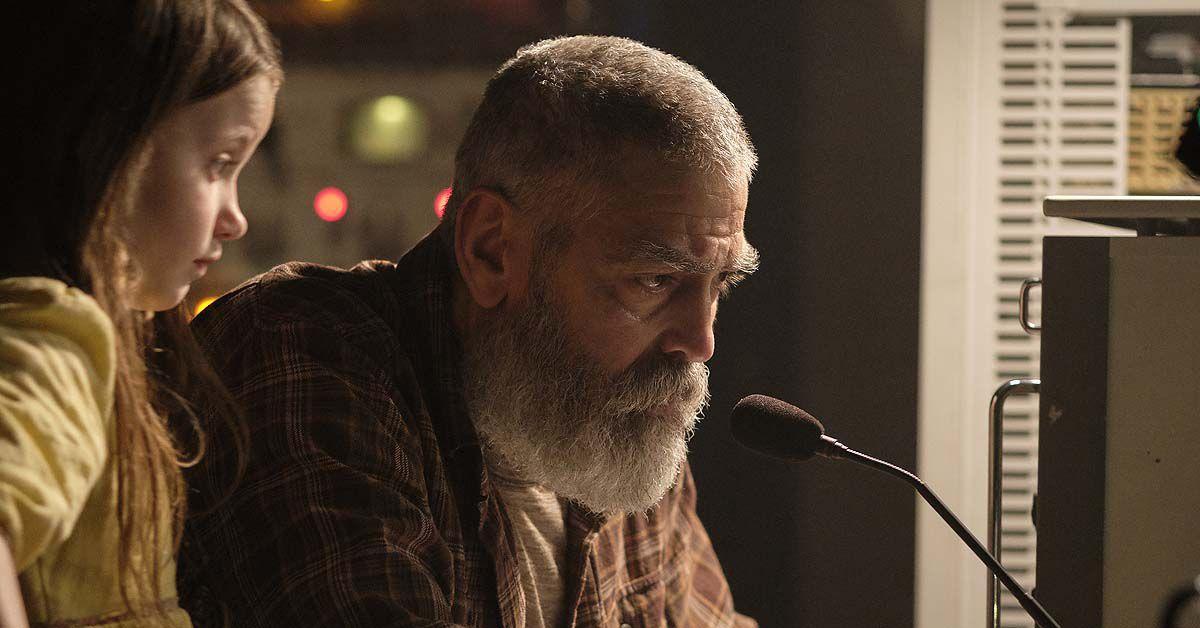 Beim Dreh: George Clooney sind die Augenlider angefroren