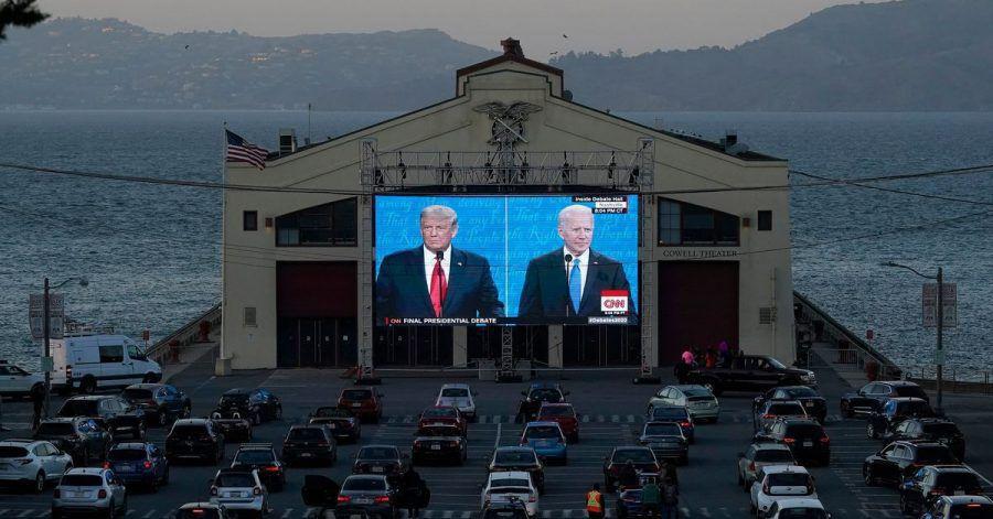 Übertragung in San Francisco:Das letzte TV-Duell zwischen Trump und Biden.