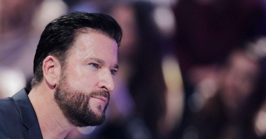 """Michael Wendler in einer Werbepause der RTL-Tanzshow """"Let's Dance"""" im Februar 2020."""