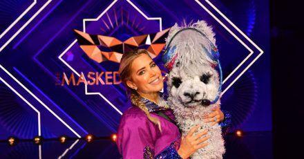 Gar kein zotteliges Wolltier: Aushilfs-Alpaka Sylvie Meis muss bei «The Masked Singer» die Hufen schwingen.