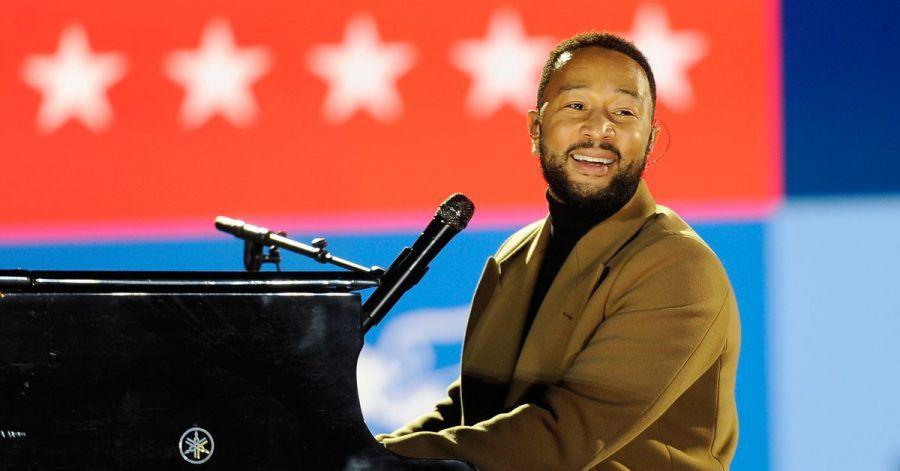 Biden-Anhänger John Legend drückt seine Freude mit dem Ray-Charles-Klassiker «Georgia On My Mind» aus.