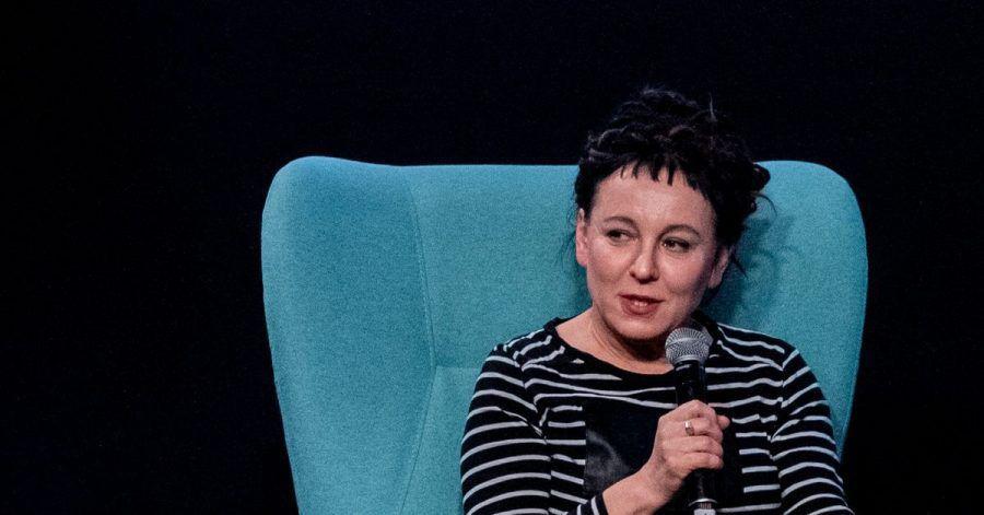 Die polnische Literaturnobelpreisträgerin Olga Tokarczuk.