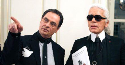 Karl Lagerfeld und Gerhard Steidl lernten sich Anfang der 90er Jahre kennen.