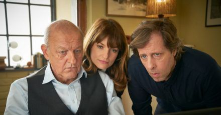Wilsberg (Leonard Lansink, l-r), Alex (Ina Paule Klink) und Ekki (Oliver Korittke) auf der Suche nach der Wahrheit.