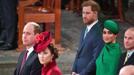 Prinz William und Herzogin Kate (vorne) und Prinz Harry und Herzogin Meghan könnten sich bald wiedersehen. (mia/spot)